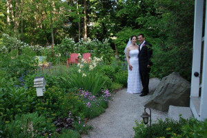 Wedding in the garden at The Inns at Blackberry Common.