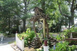 Garden view at Nathaniel Morris Inn.