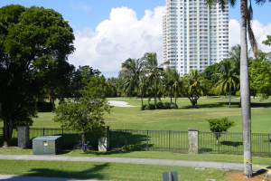 Golf course near Knights Inn Hallandale Beach.