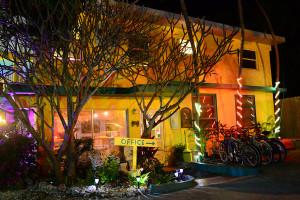 Holiday lights at La Jolla Resort Hotel.