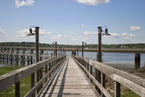 Dock at Sheepscot Harbour Village & Resort.