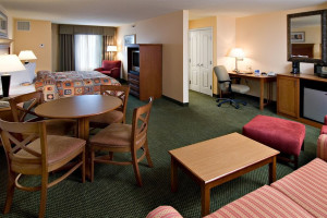 Guest room at Holiday Inn Minneapolis.