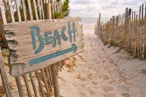 The beach near Sea Hawk Motel.
