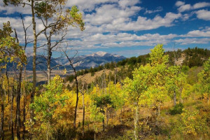 Mountain view at Elk Mountain Ranch.