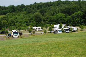 RV campsite at Lake Ridge Resort.