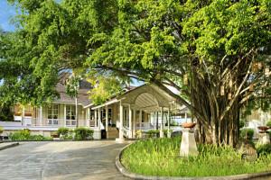 Exterior view of Banyan Tree Seychelles.