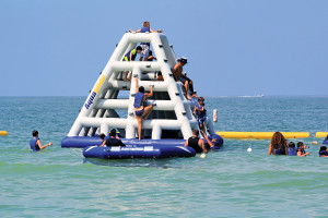 Floating Water Park at TradeWinds Island Grand