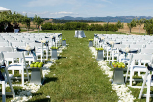 Wedding ceremony at The Carneros Inn.