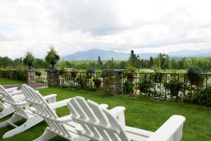 Adirondack chairs at Mountain View Grand Resort.
