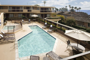 Outdoor pool at Laguna Cliffs Inn.