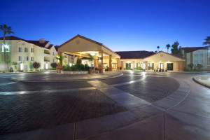 Exterior view of Holiday Inn Club Vacations at Desert Club Resort.