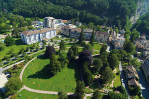 Exterior view of Grand Hotels Bad Ragaz Switzerland.