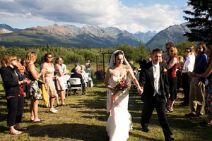 Wedding at Majestic Valley Lodge.
