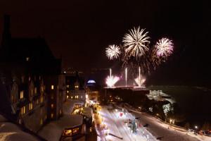 Fireworks at Fairmont Le Manoir Richelieu.