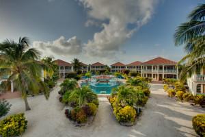 Exterior view of  Belize Beach Villas at Belizean Shores.