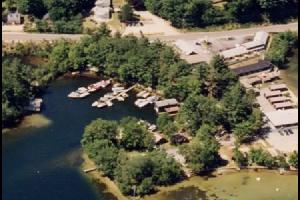 Aerial view of Sandy Point Beach Resort.