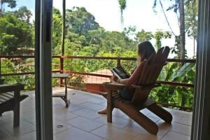 Balcony at Mar y Selva Hotel.