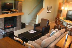 Guest living room at Sooke Harbour Resort & Marina.