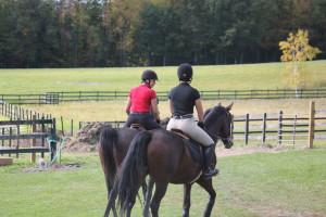Horseback riding at B & B Ranch.