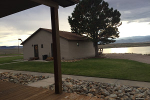 Cabin porch at Lakeview Lodge 307.
