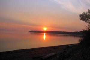 Sunset at The Shorewater Resort.