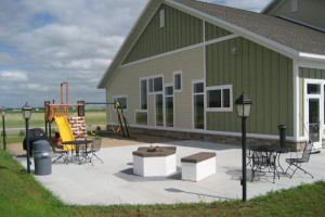 Back patio at Perham Crossings.