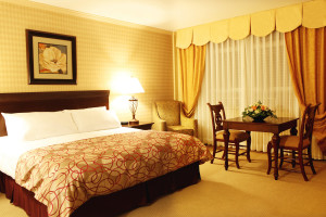 Guest room at Honor's Haven Resort and Spa.