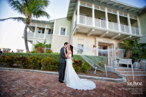 Wedding couple at The Seagate Hotel & Spa.