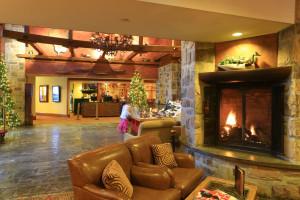 Lobby at Fairmont Tremblant Resort.