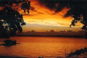 Sunset at Wild Walleye Resort.