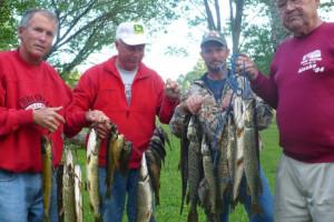 Fishing at Grey Wolf Lodge.