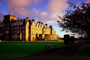 Exterior view of Gleneagles Hotel.