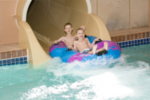 Water slide at Bridges Bay Resort.