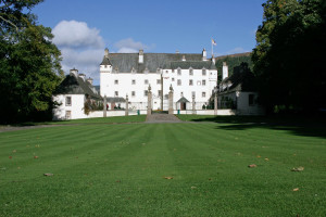 Exterior view of Traquair House.