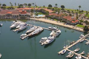 Aerial view of Kona Kai Resort.