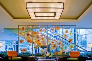 Lobby at the Houston Marriott Medical Center