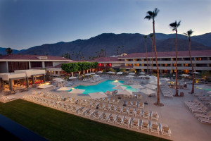 Outdoor pool at Hilton Palm Springs Resort.
