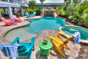 Rental pool at Anna Maria Vacations.