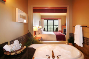 King Jacuzzi Suite at Long Beach Lodge Resort.