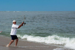 Fishing at Beach Realty.