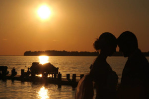 Couple at Appeldoorn's Sunset Bay Resort.