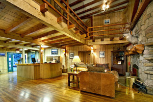 The lobby at Jackson Hole Lodge.