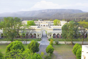 Exterior view of Sariska Palace Hotel.