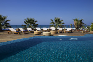 Outdoor pool at Grecotel Porto Rethymno.