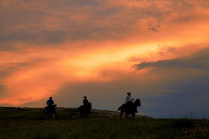 Sunset at Colorado Cattle Company Ranch.