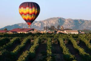 Hot air balloon ride near Pala Mesa Resort.