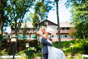 Wedding couple at Grand View Lodge.