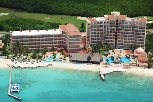 Aerial view of El Cozumeleno Beach Resort.