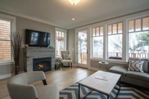 Rental living room at Seabrook Cottage Rentals.