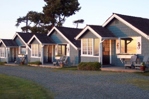 Exterior view of Juan de Fuca Cottages.